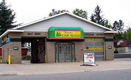 The Florence Car Wash is open 24 hours and day and is located at 401 Central Avenue in Florence, WI.